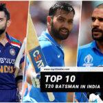 Top 10 T20 Batsman in India