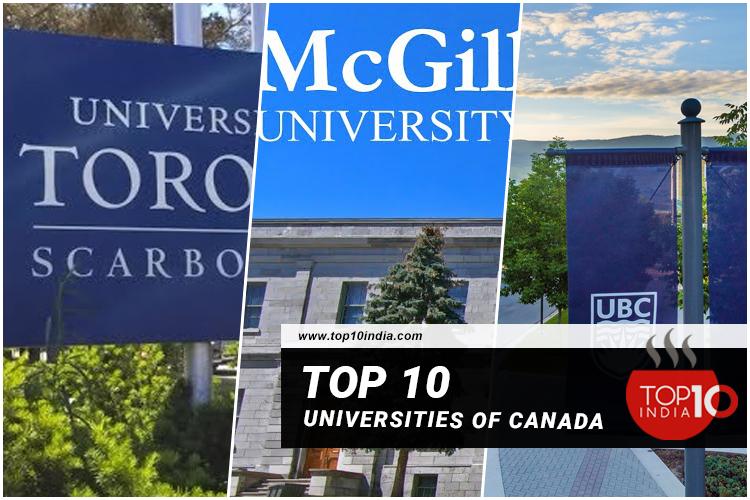 Top 10 Universities of Canada