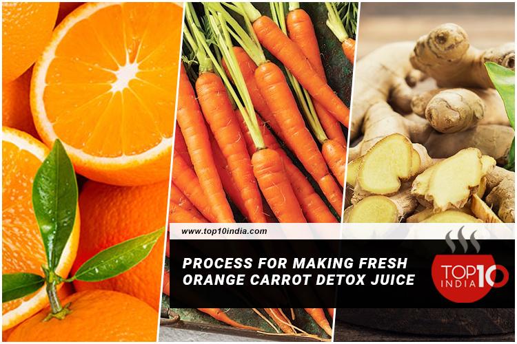 Process For Making Fresh Orange Carrot Detox Juice