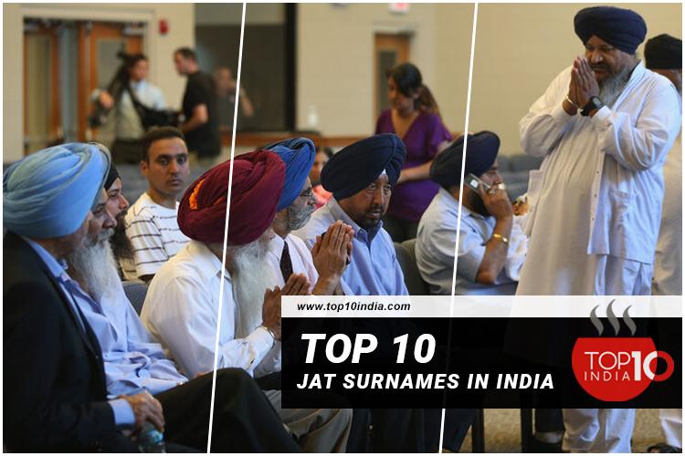 Top 10 Jat Surnames in India